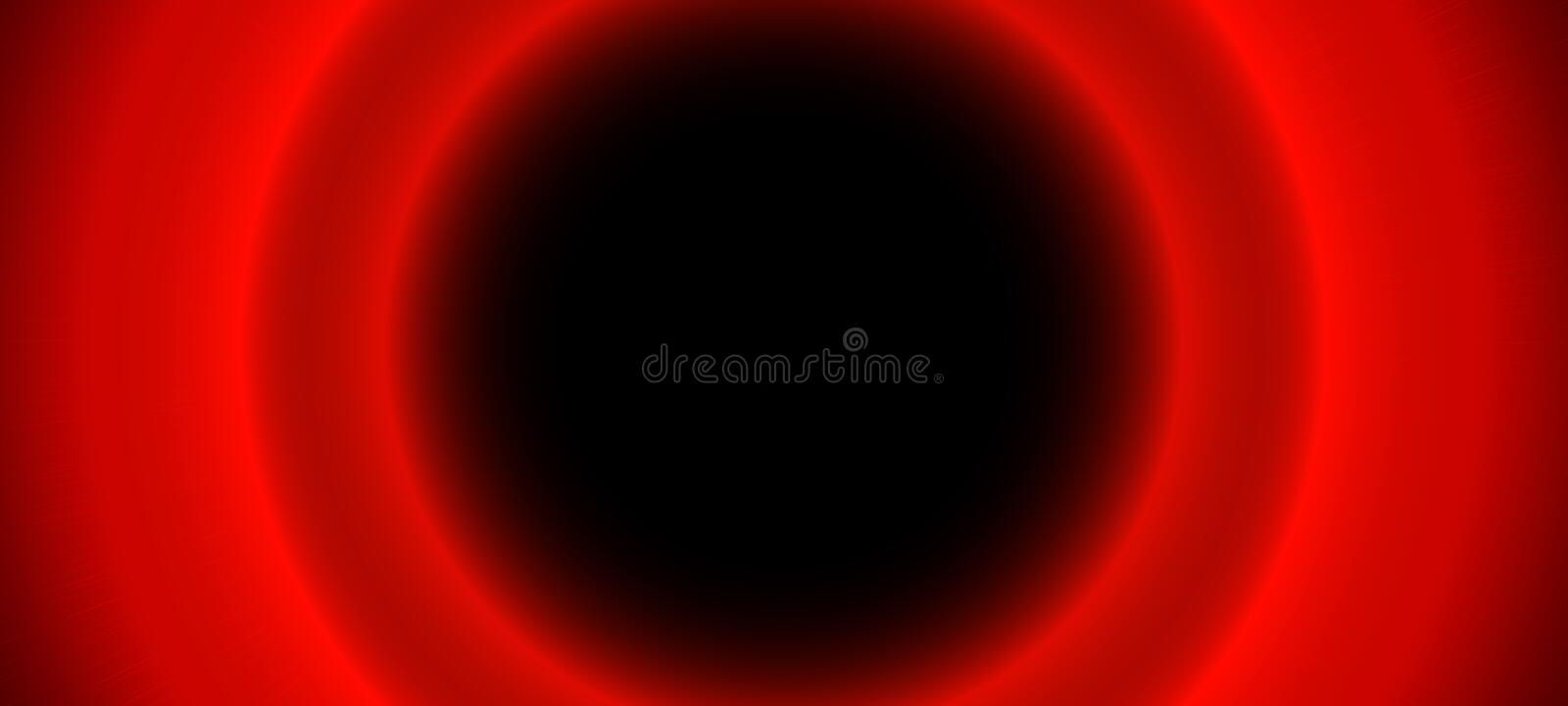 Bright red blurred glowing circles on black background. Abstract illustration with shiny lights. Blur neon round objects. Copy spa vector illustration