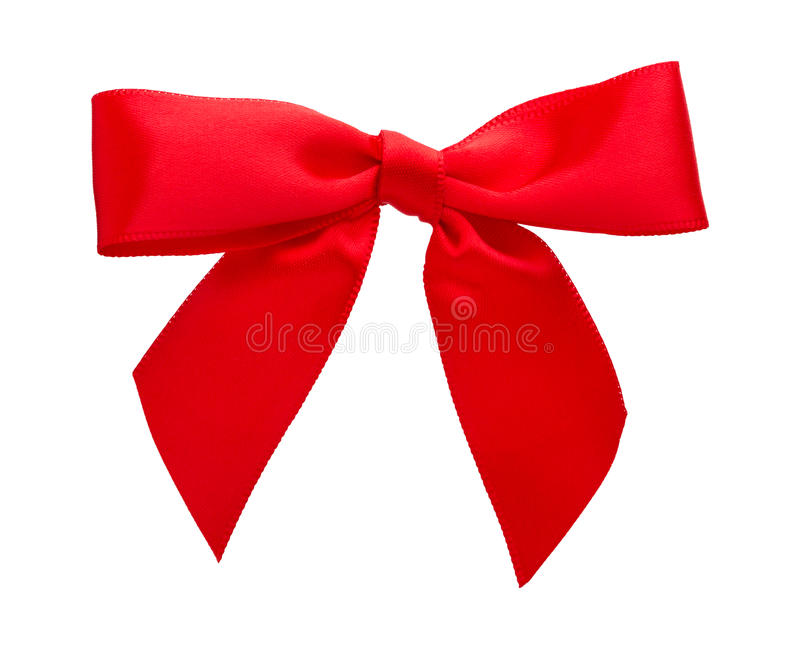 Bright Red Bow stock photography
