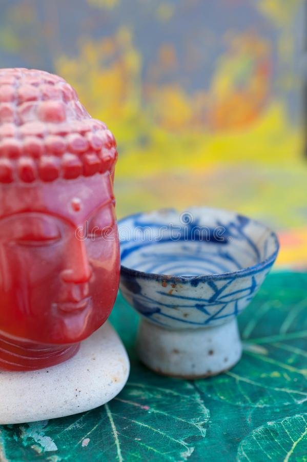 Colorful Zen Buddha Contemplation stock image
