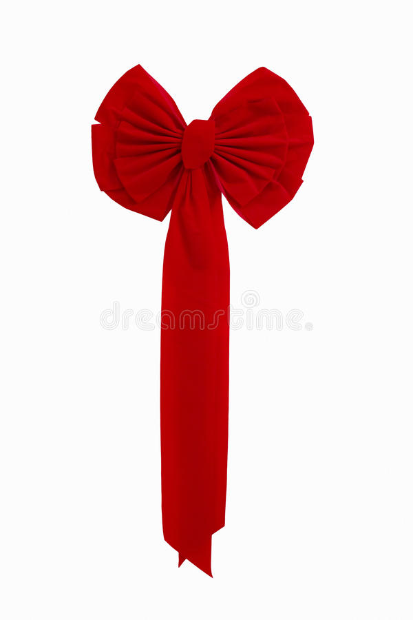 Download Bright Red Christmas Ribbon Isolated Against White Stock Image - Image: 35411941