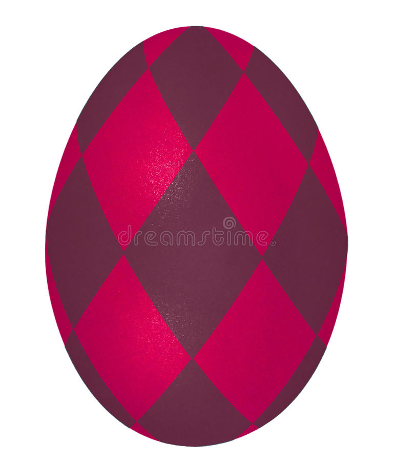 Bright red easter egg stock photo