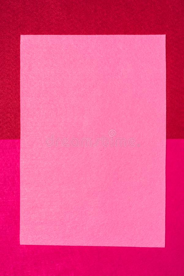 Bright red felt background. royalty free stock photography