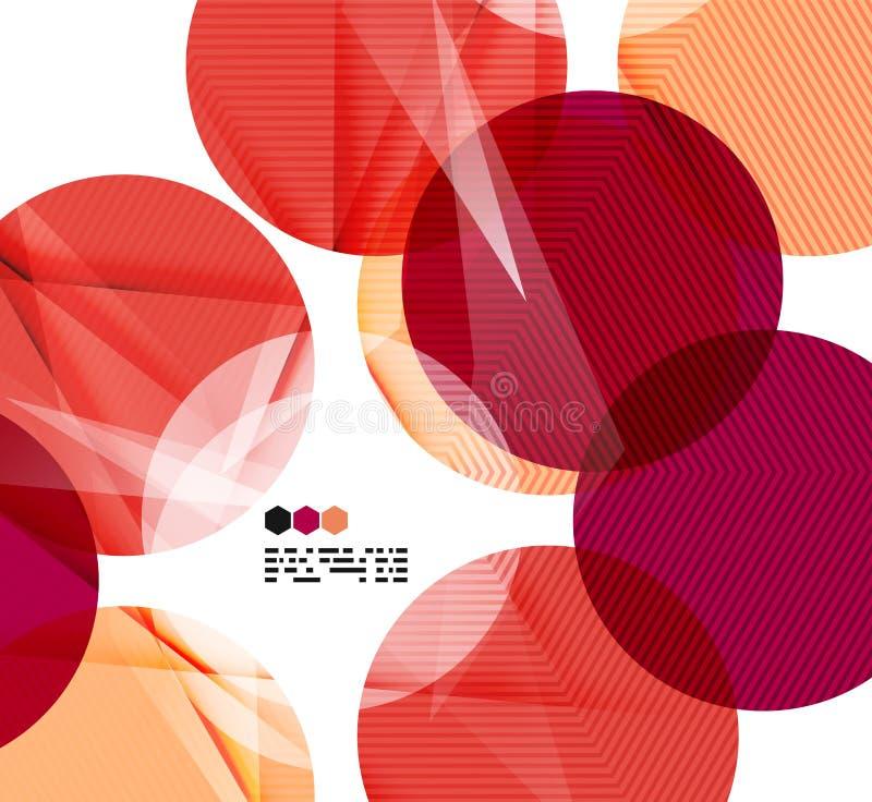 Bright red geometric modern design template. Bright red textured geometric shapes isolated on white - modern design template stock illustration