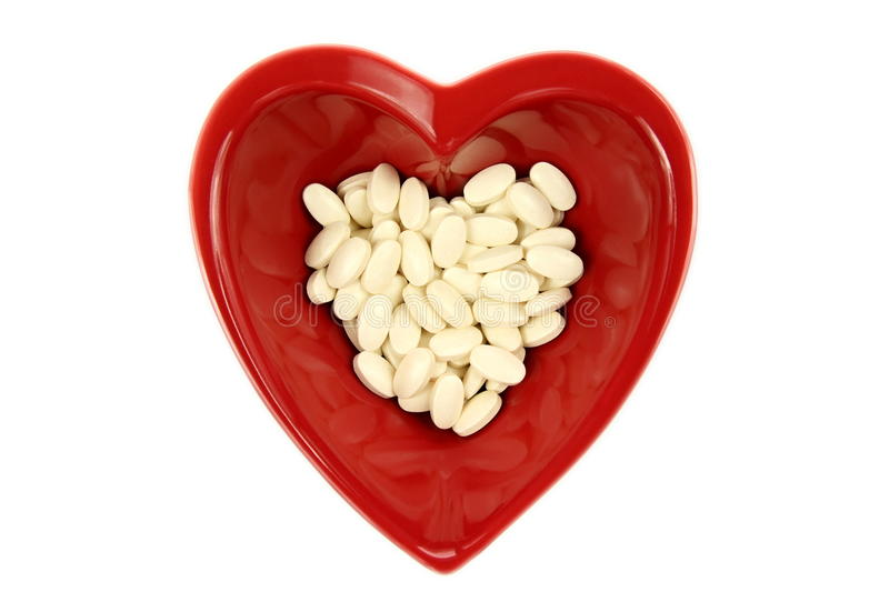 Download Bright Red Heart And Medicines Stock Photo - Image: 12493410