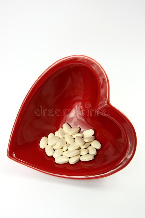 Download Bright Red Heart And Medicines Stock Image - Image: 12493521