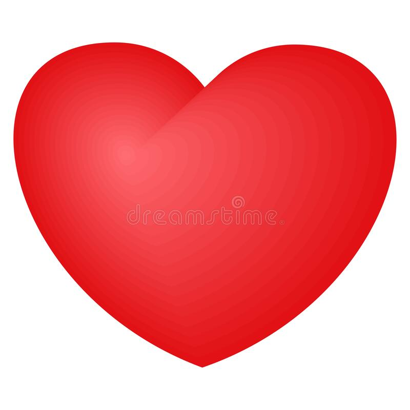 Bright red heart. A symbol of love and tenderness stock image