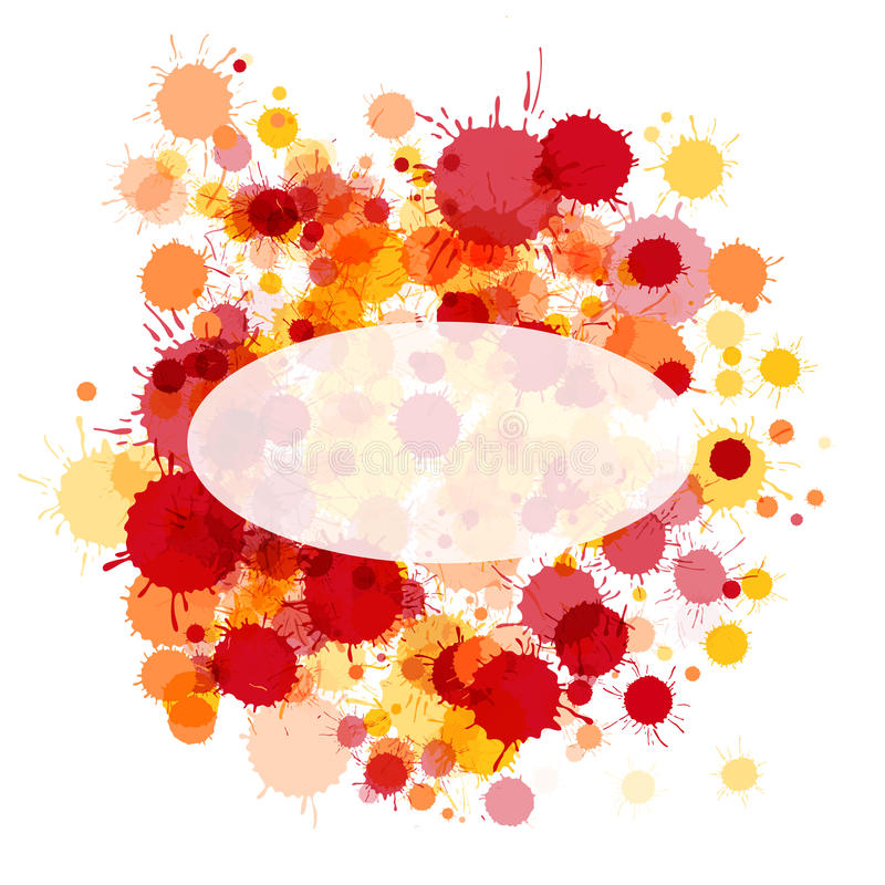 Bright red and orange watercolor ellipse frame card stock images