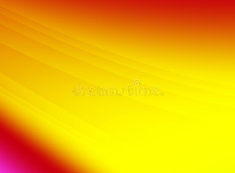 Bright red orange yellow abstract fractal art. Modern background illustration with gradients and subtle lines in vivid colors. Cre royalty free illustration