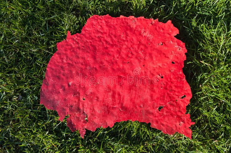 Red peeled paint background royalty free stock photo