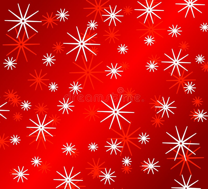 Bright Red Snowflake Patterns royalty free illustration