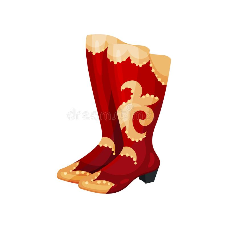 95940092b4b Pair Of High Heel Red Female Shoes Icon Stock Vector - Illustration ...