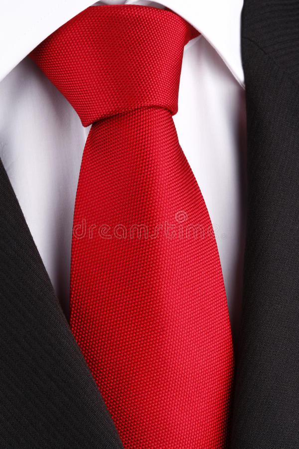 Bright red tie royalty free stock photos