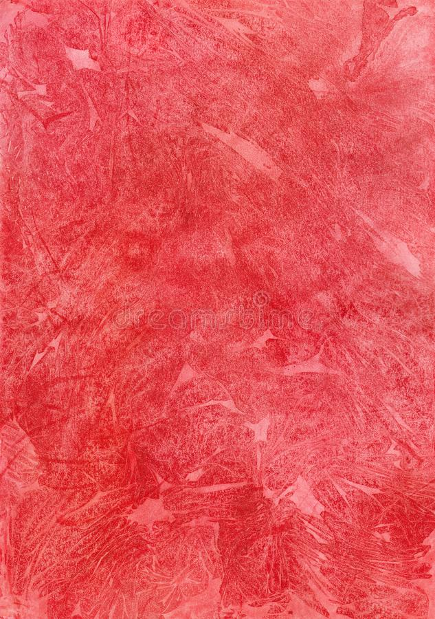 Bright red watercolor background with the texture vector illustration