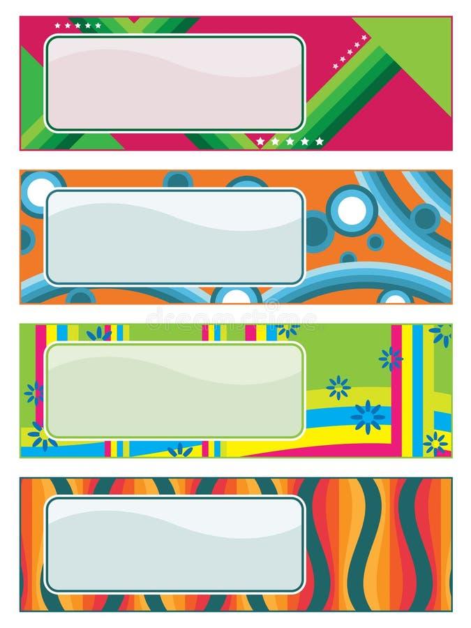 Bright retro banners royalty free illustration