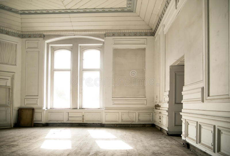 Bright room in the ancient palace royalty free stock image