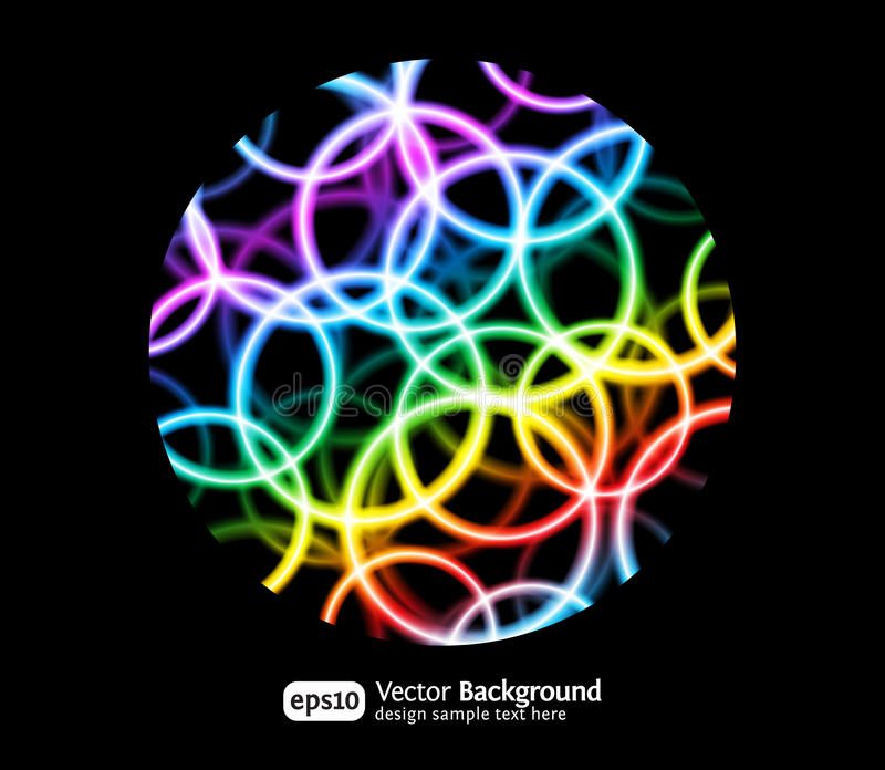 Download Bright round background stock vector. Image of abstract - 17544199
