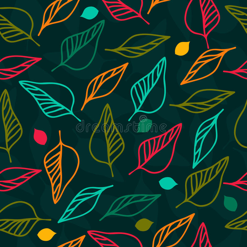 Download Bright Seamless Floral Pattern With Leaves Stock Vector - Illustration of paper, graphic: 32967978