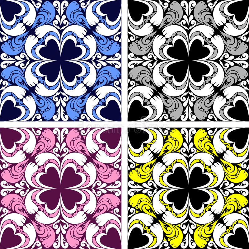 Free Bright Seamless Ornamental Pattern In Four Variants. Stock Photography - 46405522
