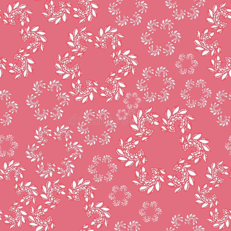 Bright seamless pattern in paisley style.Abstract pattern. cute girlish repeated backdrop. vector illustration