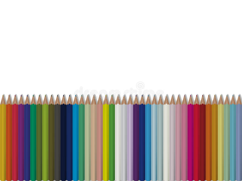 Bright seamless vector pencils background royalty free illustration