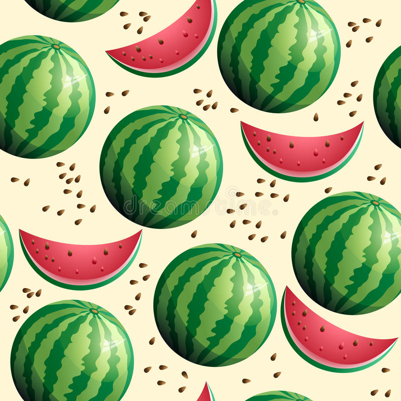 Bright seamless wallpaper with watermelon royalty free illustration