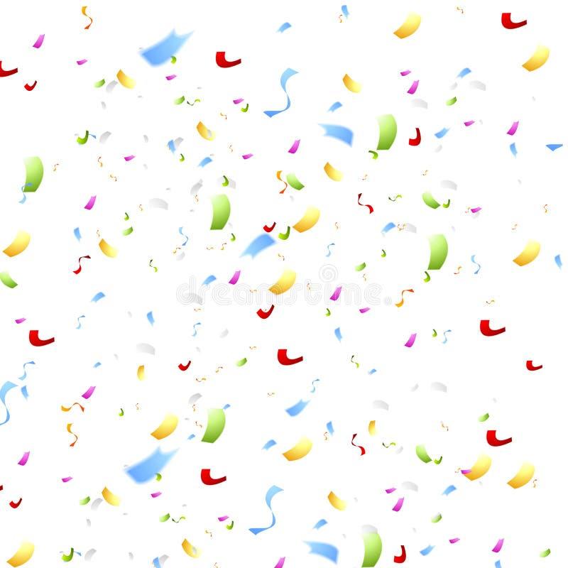 Bright shiny confetti on white background royalty free stock images