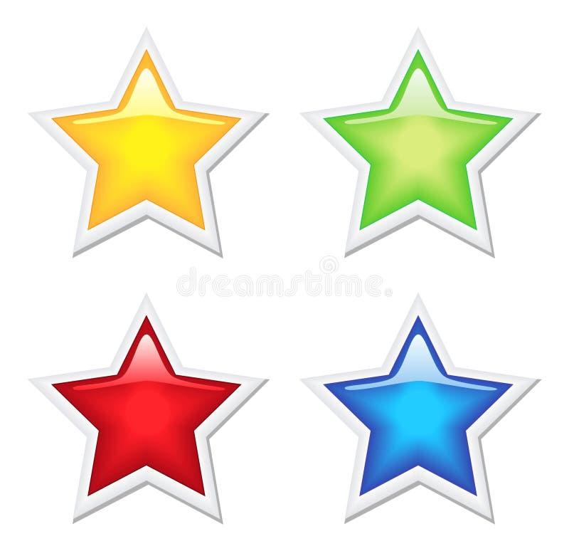 Bright shiny stars set royalty free stock image