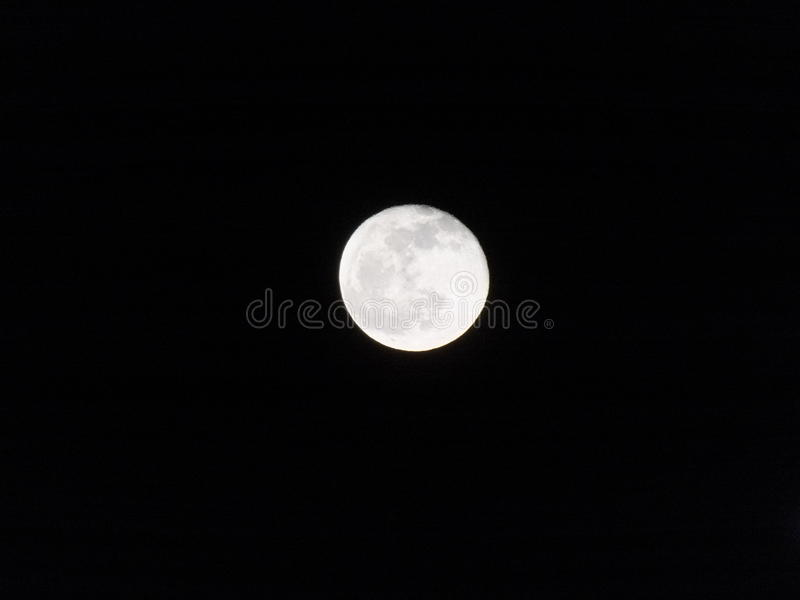 Bright side of the moon royalty free stock photo