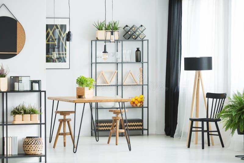 Wood and metal furniture royalty free stock image