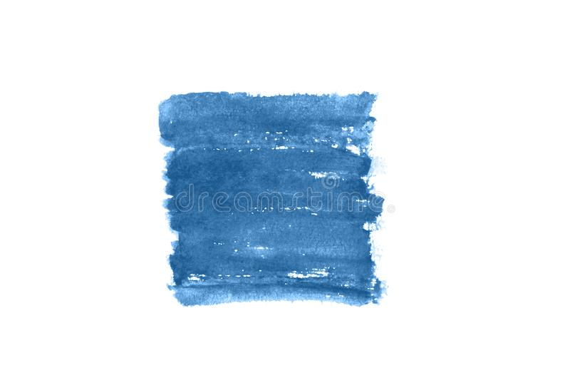 Bright smear of watercolor paint on a white paper background royalty free stock photography