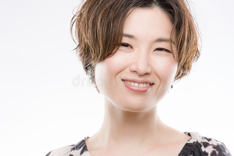 Bright Smiling Japanese Woman Portrait royalty free stock photo