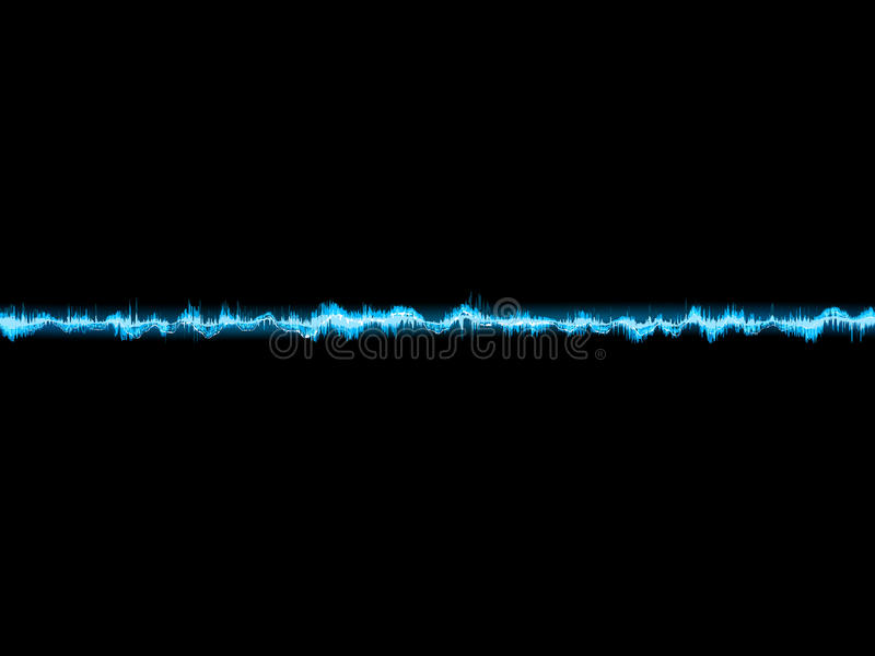 Bright sound wave on a dark blue. EPS 10. Bright sound wave on a dark blue background. EPS 10 vector file included vector illustration