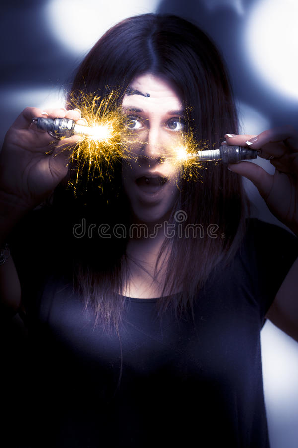 Download Bright Sparks stock photo. Image of light, blue, automotive - 17441022