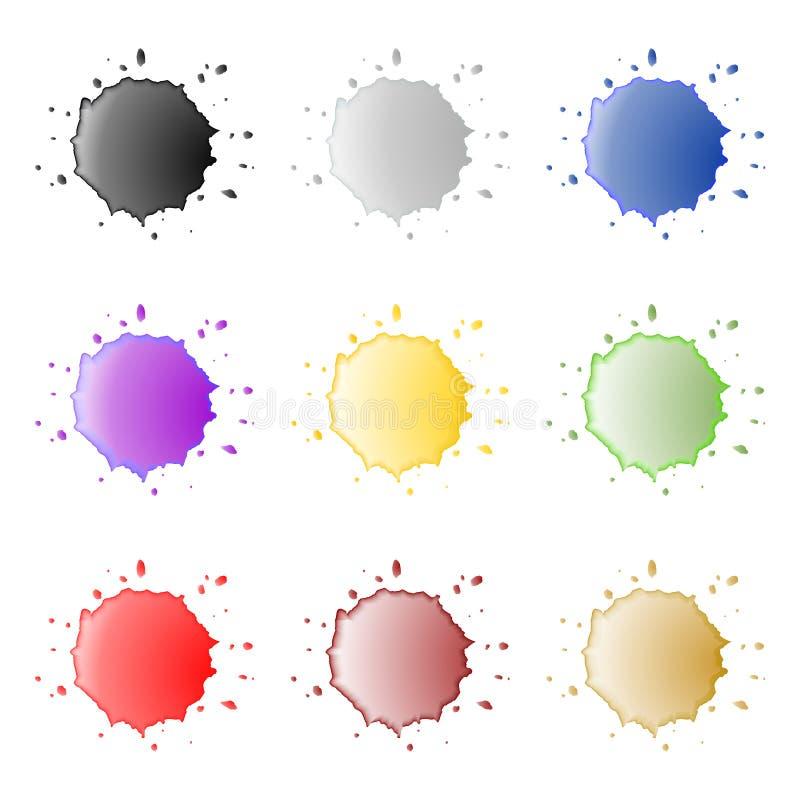 Download Bright splashes stock illustration. Illustration of button - 31168647