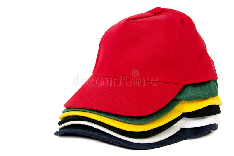 Bright Sports Caps royalty free stock photography