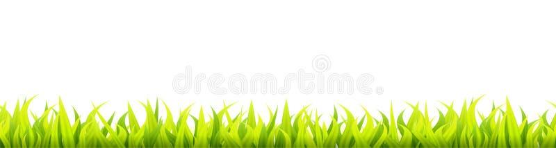 Bright springtime lawn banner. stock illustration