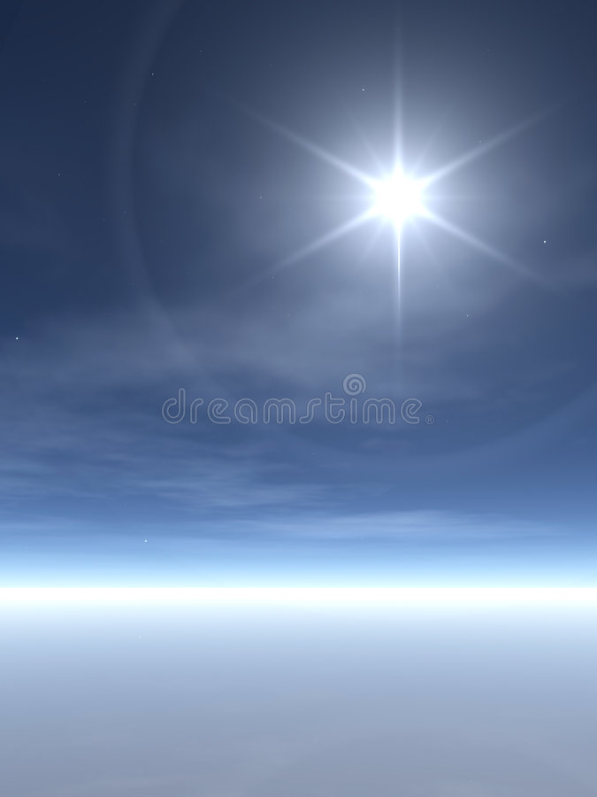Free Bright Star Over Wispy Clouds Royalty Free Stock Image - 1510406