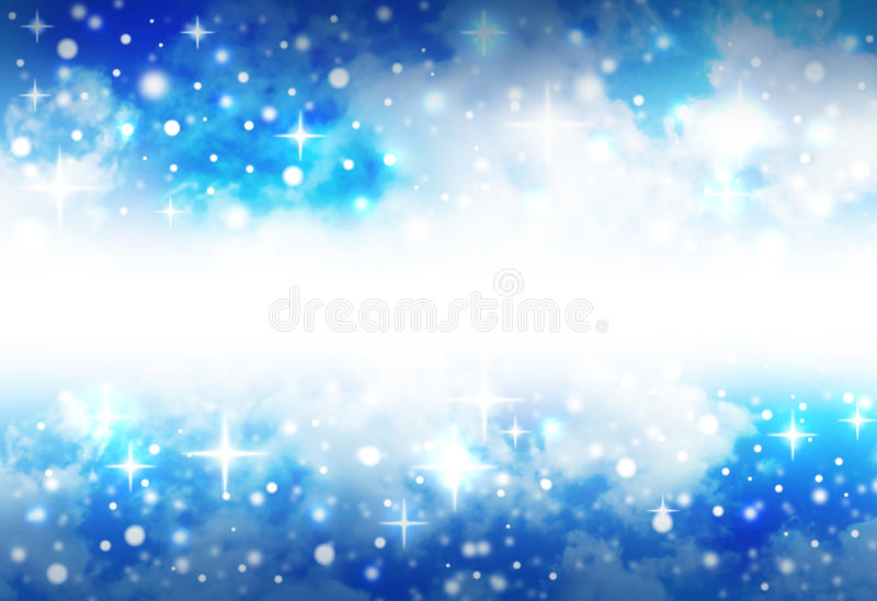 Bright Star Space Background with Sparkles vector illustration
