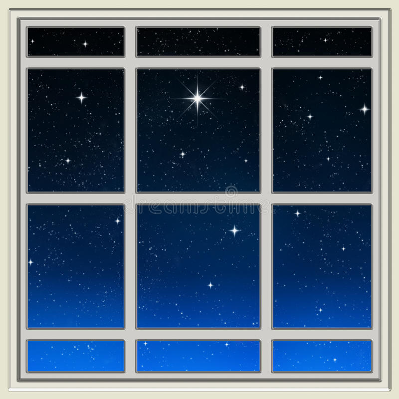 Download Bright Star Through The Window Stock Illustration - Image: 10928494