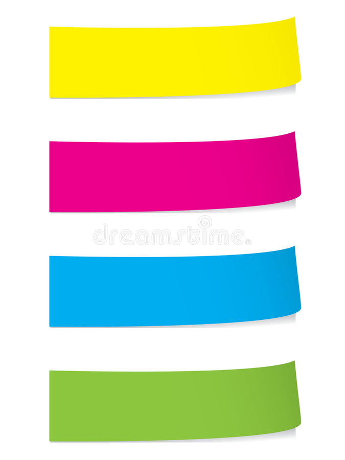Bright stickies with shadows royalty free illustration