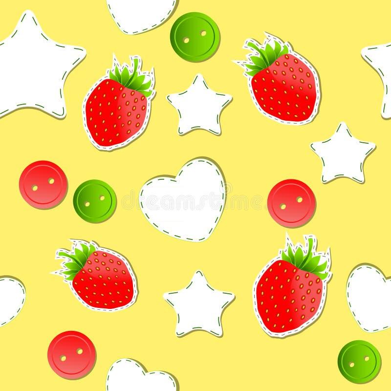Download Bright Strawberry Cute Wallpaper Seamless Stock Vector - Illustration: 23433258