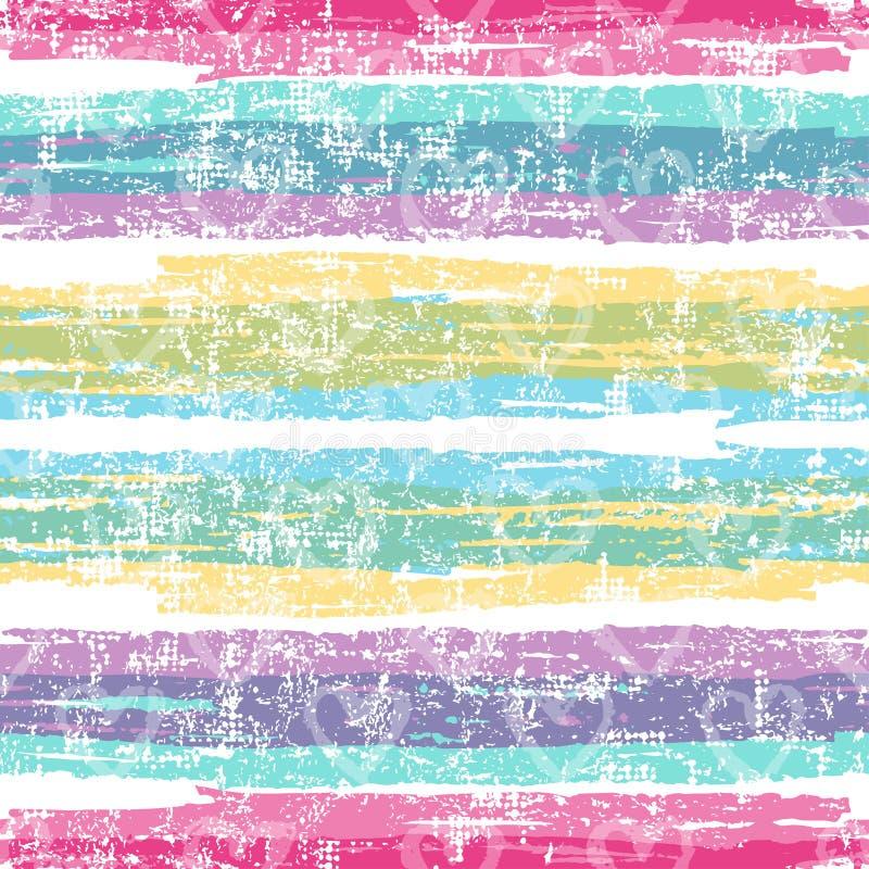 Bright striped seamless pattern stock illustration
