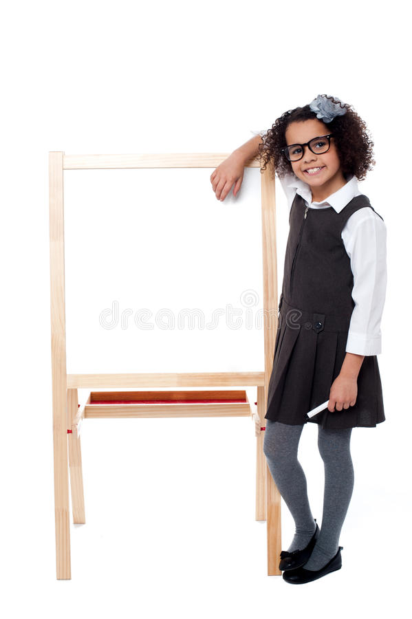 Free Bright Student Resting Her Hand On Whiteboard Stock Photography - 31602952