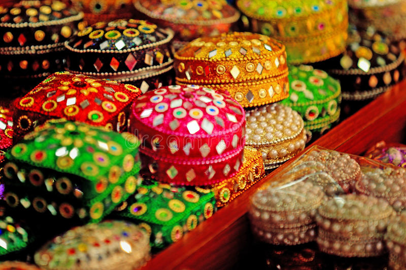 Bright stunning cases in Arab street, Singapore royalty free stock image