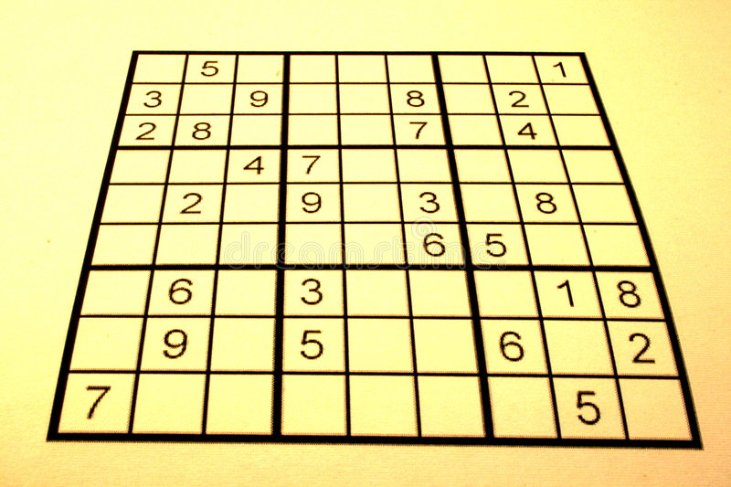 Bright sudoku stock images