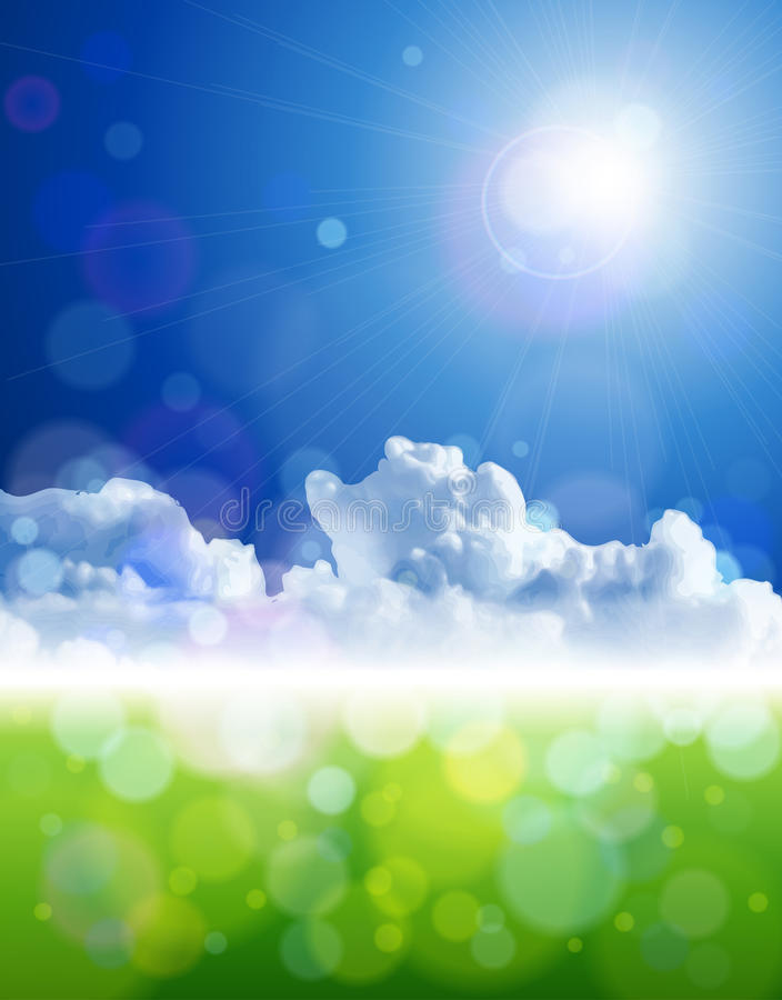 Free Bright Sun, Clear Skies, Clouds, Green Grass Royalty Free Stock Photos - 14119028