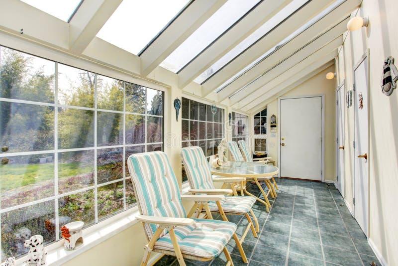 Bright Sun Room Interior Stock Photo