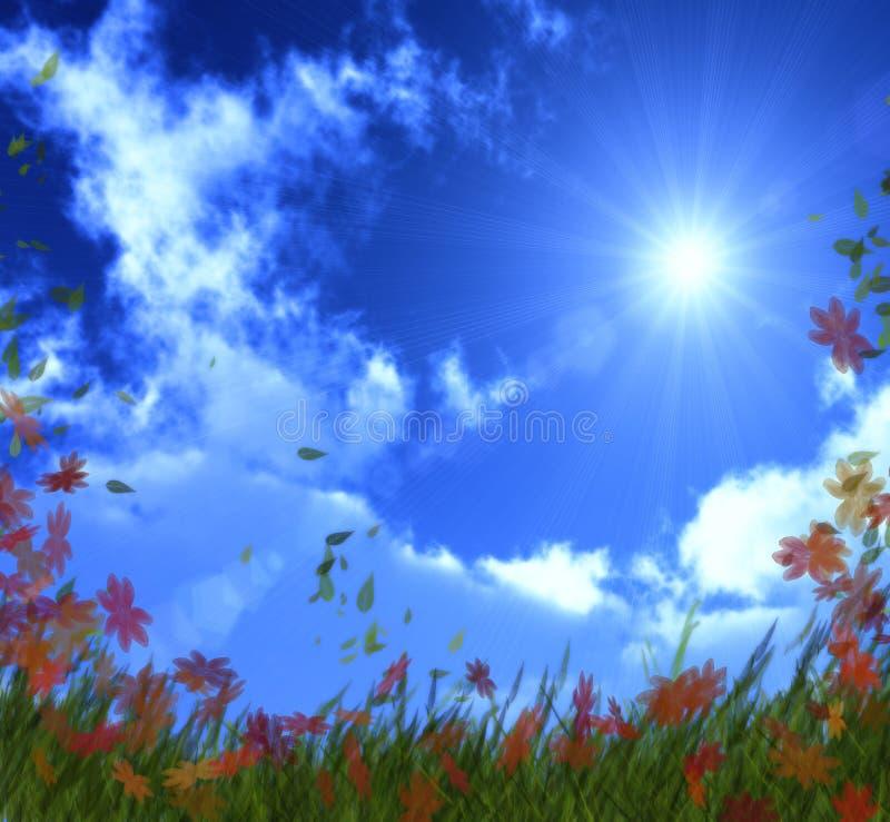 Bright sunny day stock photo
