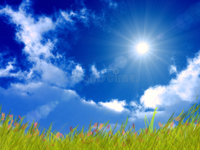 Download Bright sunny day stock illustration. Illustration of environment - 9359650