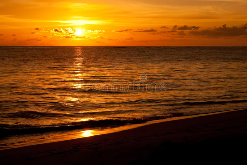 Download Bright Sunrise In Early Morning With Sand Beach Royalty Free Stock Photo - Image: 13216085